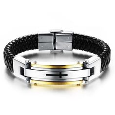 Stainless Steel On Snake Braid -- Men's Vintage Bracelet -- Multiple Versions Available!!!!