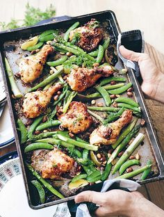Crunchy chicken satay in a pan from The I Quit Sugar Cookbook by Sarah Wilson {PHOTO: Robert Palmer}