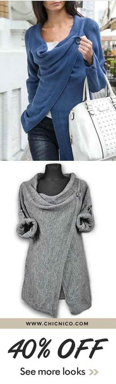 $28.99. Gray Single Button Tassel Asymmetrical Hem Coat