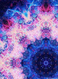 #cosmic #magic #kaleidoscope #floral #psychedelic #galactic #purple