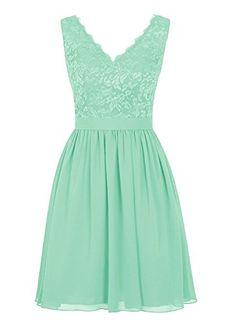 Angel Formal Dresses Women's V Neck Lace Dress Bridesmaids Dress Short Prom Dress(16,Mint Green) Angel Formal Dresses http://www.amazon.com/dp/B01BY2EUYE/ref=cm_sw_r_pi_dp_4Rp1wb0W23S6S