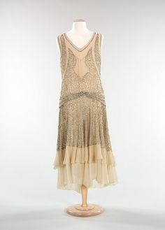 Robe du soir / Evening dress - 1928-30- Anonyme / Unlabeled