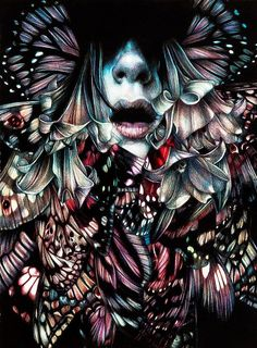 "Artist Marco Mazzoni ""Chemical Peacock"""