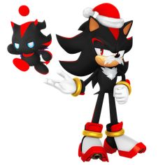 Santa Shadow and Shadow Chao 2017 Render by Nibroc-Rock