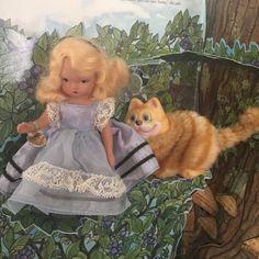 Vintage Nancy Ann Storybook Doll Alice Thru The Looking Glass Hard Plastic #119