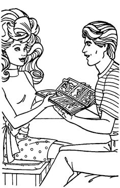 Barbie Coloring Pages, Coloring For Kids, Paper Dolls, Fun Stuff, Book, Drawings, Barbie Drawing, Pintura, Art