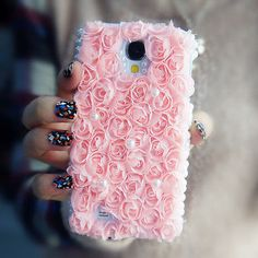 Bling Crystal Pink Flower Case Samsung galaxy s5 s3 s4 mini s4 active note 2/3/4 in Cell Phones & Accessories | eBay