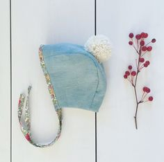 Handmade Linen Baby Bonnet | Fawn & Fable on Etsy