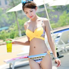 Two Way Summer Style Sexy Bikinis Swimsuit Swimwear WomenTriangl Bikini Push Up Bathing Suit Beachwear 2015 Free Shipping S128
