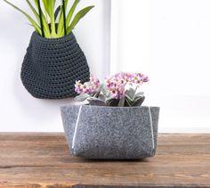 Flower pot cover 6-inch Decorative felt bowl Housewarming by POPEQ