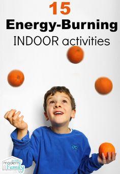 15 energy burning activities for kids {to do inside}
