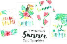 Tropical Card Templates Set @creativework247