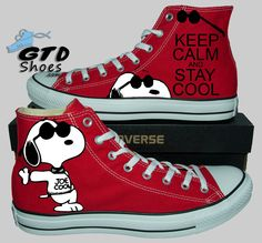 Snoopy Joe Cool - Custom painted converse WEBSITE- http://www.gtdshoes.com/ FACEBOOK- https://www.facebook.com/genuinetouchdesigns