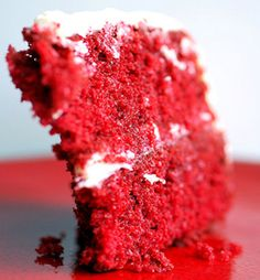 Baked it, ate a slice, and another, and another. Will gain some weight on my birthday! #Cakegasm #RedVelvet #Love  Red Velvet Cake - Recipe - The Answer is Cake
