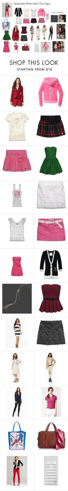 """""""Fall 2012 Mean Girls/Gossip Girl Inspiration"""" by bridgettroal ❤ liked on Polyvore featuring Juicy Couture, Abercrombie & Fitch, Ralph Lauren and Lacoste"""