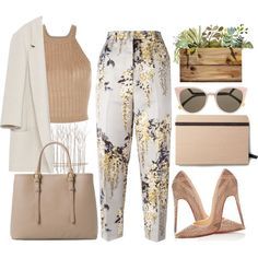 A fashion look from September 2015 featuring Zara blazers, Rochas capris and Christian Louboutin pumps. Browse and shop related looks.