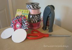 CORSAGE/PIN DIY BABY SHOWER INSTRUCTIONS Crafting a Hot Pink and Zebra Baby Shower Corsage
