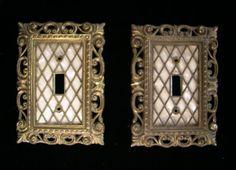 Vintage Decorative Metal Ornate Light Switch by SaltwaterVillage
