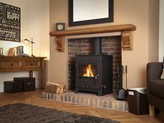 Portway, Multi-fuel Stove, Contemporary, Central Heating