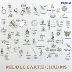 Middle Earth Themed Pewter Charms EXTENSIVE by TheLiteraryCharm