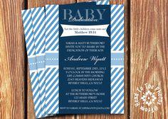 Baby Dedication Invitation • Baptism Photo Invitation ...