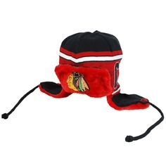CHICAGO BLACKHAWKS NEW ERA NHL WORDTRAP KNIT TROOPER HAT