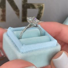 carat radiant shaped diamond engagement ring with a single paved cathedral setting Cute Engagement Rings, Radiant Engagement Rings, Princess Cut Engagement Rings, Cushion Cut Engagement, Designer Engagement Rings, Big Diamond Rings, Diamond Anniversary Rings, Single Diamond Ring, Diamond Wedding Rings