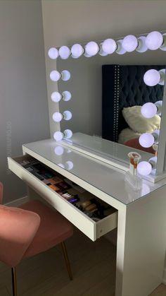 Bedroom Decor For Teen Girls, Room Ideas Bedroom, Diy Bedroom Decor, Bedroom Closet Design, Home Room Design, Dressing Room Design, Makeup Room Decor, Cute Room Decor, My New Room