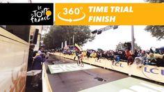 cool Tony Martin finishing the time trial - 360° - Tour de France 2017