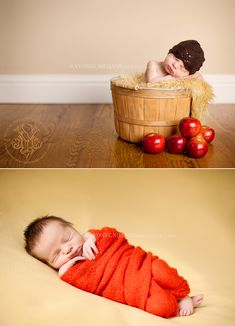 Autumn Baby Pics!!! This is the plan to have the next little one in fall! This would be an awesome newborn photo shoot, i love the apples! makes me think of apple picking! Which i cant wait to do!