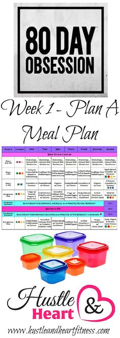 80 Day Obsession Meal Plan with recipes & tips to keep you on track! | Fix Friendly Recipes And Tips | United States | Hustle & Heart Fitness
