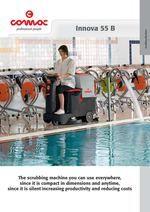 Новинка уборочной техники 2012 поломоечная машина с сиденьем - проспект - технические данные COMAC INNOVA 55B