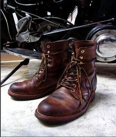 bota masculina de couro chromexcel da motor leather