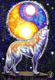 Wolf yin-yang