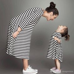 Mother Daughter Dresses 2015 Autumn Fashion Long Sleeve Striped Family Look Matching Clothes Cotton Mom And Daughter Dress Family Clothing Mother And Baby Daughter Matching Outfits Family Hawaiian Outfits From Zhengweixia, $11.17| Dhgate.Com
