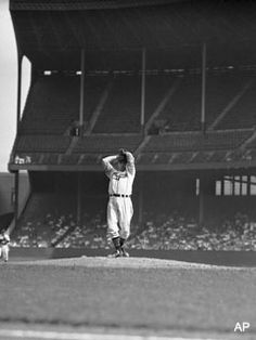"""The greatest right-handed picher in the history of the game for my money, """"Bullet"""" Bob Feller of the Cleveland Indians"""