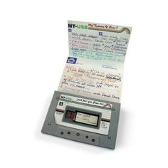 Mixtape USB Drive // cute idea, design nostalgia, who actually remembers mixtapes?! Smile... #productdesign
