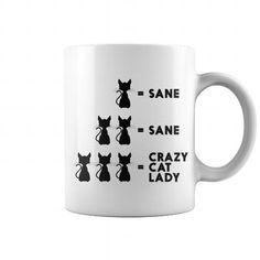 This is a great gift for Cat lovers Crazy Cat Lady Mug Tee Shirts T-Shirts
