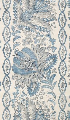 Suzanne Tucker linen fabric - Carita in French Blue Textile Design, Fabric Design, Pattern Design, Fabric Wallpaper, Of Wallpaper, French Wallpaper, Antique Wallpaper, Chinoiserie Wallpaper, Love Blue