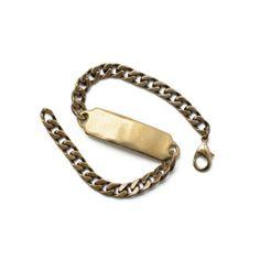 Brass ID Bracelet - Kaufmann Merchantile Store