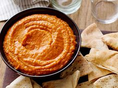 Roasted Red Bell Pepper Hummus from FoodNetwork.com