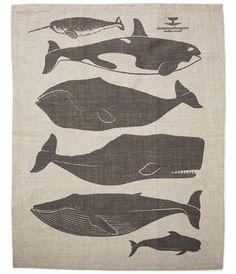Check out the Belgian Linen Tea Towel in Fabrics & Linens, Kitchen & Tea Towels from Heath Ceramics for Heath Ceramics, Whale Art, Letterpress Printing, Moleskine, Oeuvre D'art, Tea Towels, Dish Towels, Illustration Art, Animal Illustrations