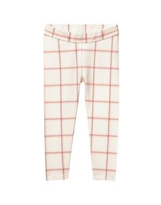 Perfect for all day comfort, our ponte pant is crafted from soft stretch fabric. Finished with allover windowpane print.