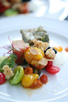 #Salad | Heirloom tomato | Photography: Alisha  +  Brook Photographers | See the wedding on SMP: http://www.StyleMePretty.com/2013/04/30/st-helena-wedding-from-alisha-brook-photographers/