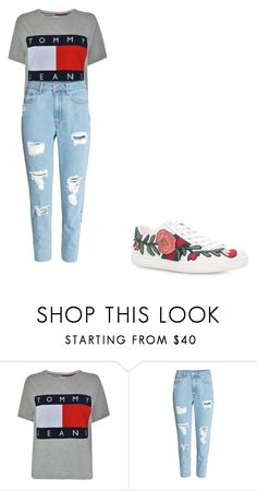"""""""casual"""" by ikatsamaki on Polyvore featuring Tommy Hilfiger, H&M and Gucci"""
