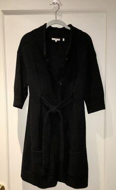 93b2762c Belted Cardigan, Black Cardigan, Cashmere Sweaters, Black Sweaters, Short  Sleeve Dresses. Tradesy