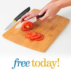 Monday, May 23, 2016 - Get it before the stores GIVEAWAY - We will be giving away FREE Ceramic Knives! This beautiful knife with an ergonomic and non-slip grip is sculpted in the Santoku style, with scalloped indents that help to release the food as you slice.