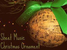 DIY Christmast Crafts : DIY Music Christmas Ornament