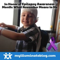 November is #Epilepsy Awareness Month! One mom shares with us the journey their family has been on since 2007, when their son was diagnosed with Epilepsy and what it means for them to wear #purple in #November. Who do you wear purple for?