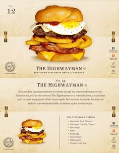76 Burgers by Wisconsin Cheese®: No. 12 - The Highwayman